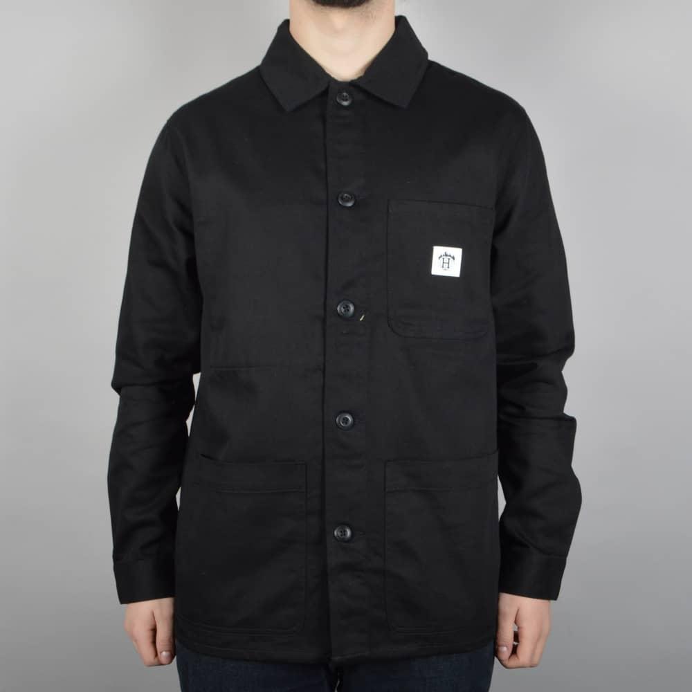 fe9dfa023e98 HUF x Thrasher TDS Chore Jacket - Black - SKATE CLOTHING from Native ...