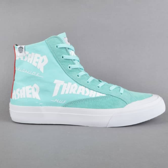 HUF x Thrasher TDS Classic Hi Skate Shoes - Mint