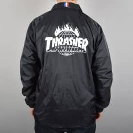 HUF x Thrasher TDS Coach's Jacket - Black