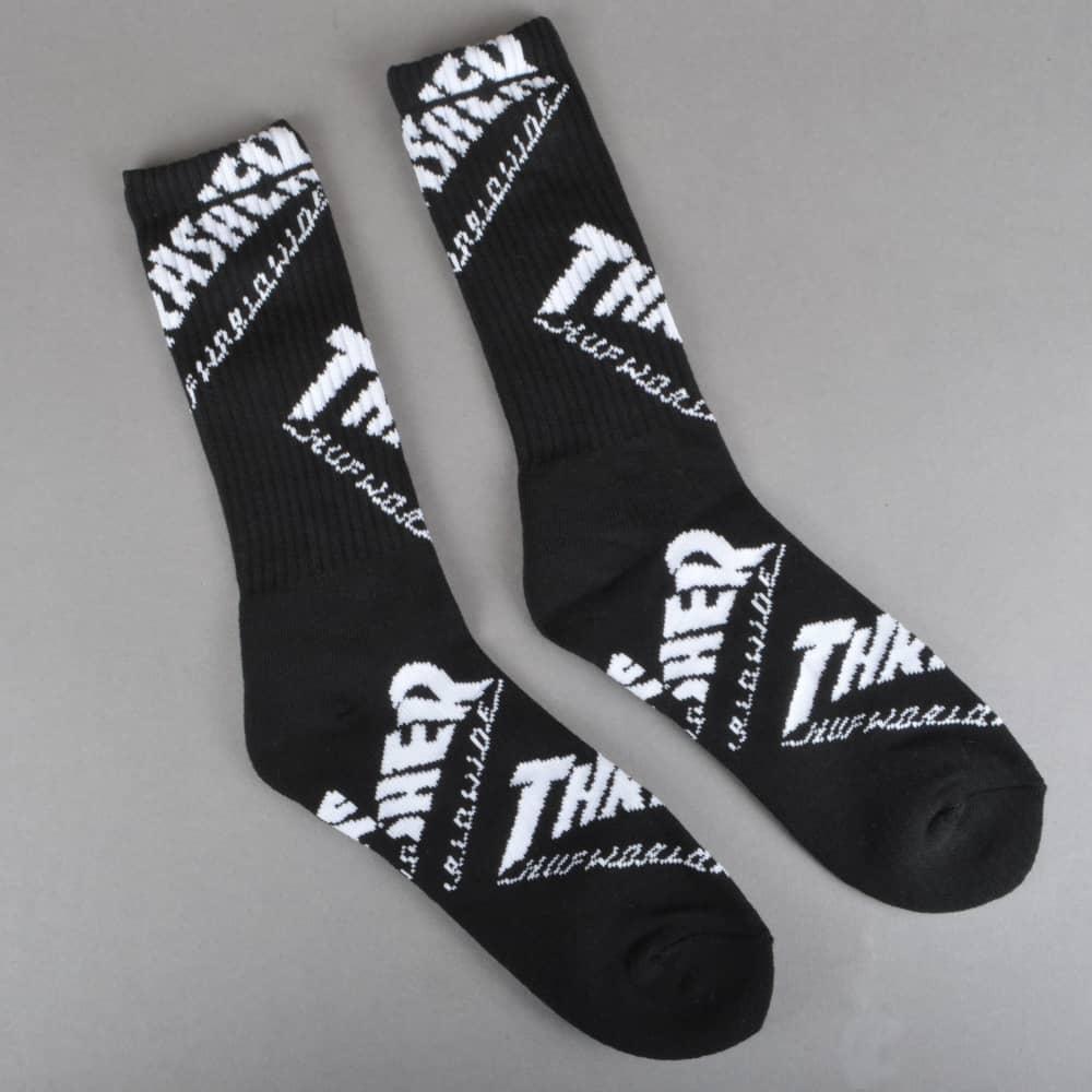 b22e04b0f5a HUF x Thrasher TDS Crew Socks - Black - ACCESSORIES from Native ...