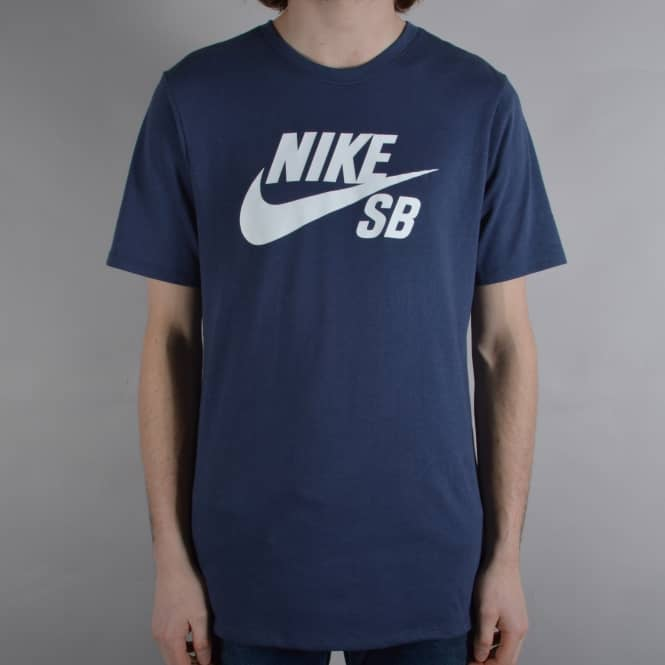 Nike SB Icon Logo T-Shirt - Thunder Blue/White