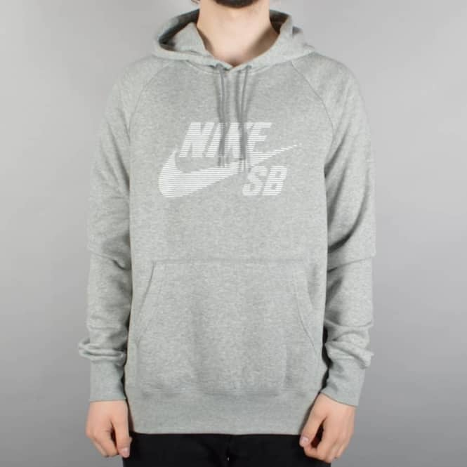 best sneakers e9df0 b5d5c Icon Stripe Pullover Hoodie - Heather Grey