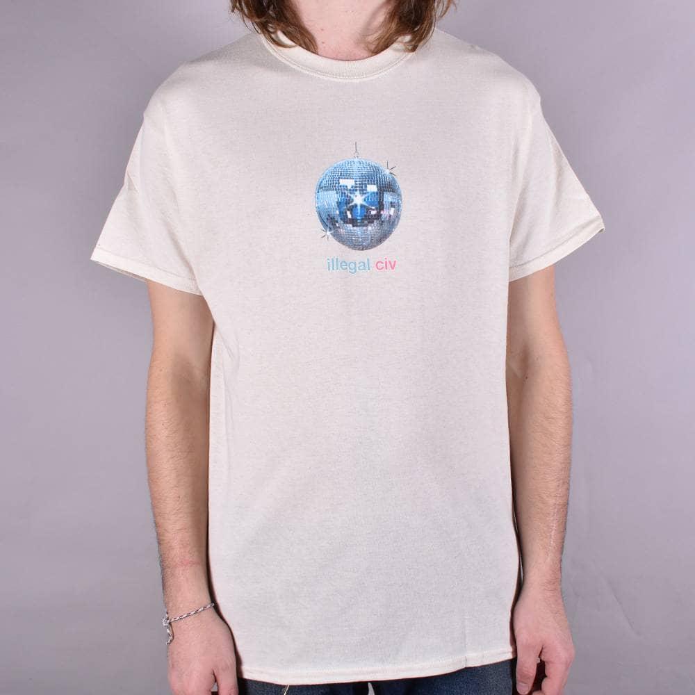 Illegal Civilisation Disco Ball Skate T Shirt Natural Skate