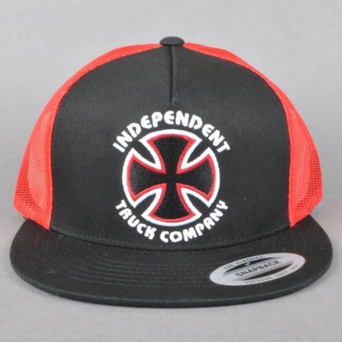 Independent Trucks Independent Trucks Classic Bauhaus Mesh Cap - Black Red 4f9b2fb28550
