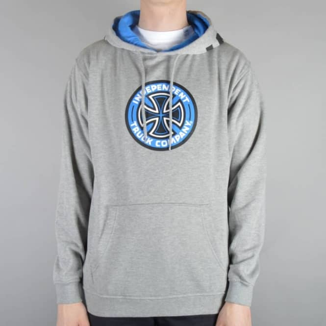 Independent Trucks Coloured TC Pullover Hoodie - Heather Grey