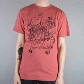 Independent Trucks Doodle Skate T-Shirt - Red Mineral Heather