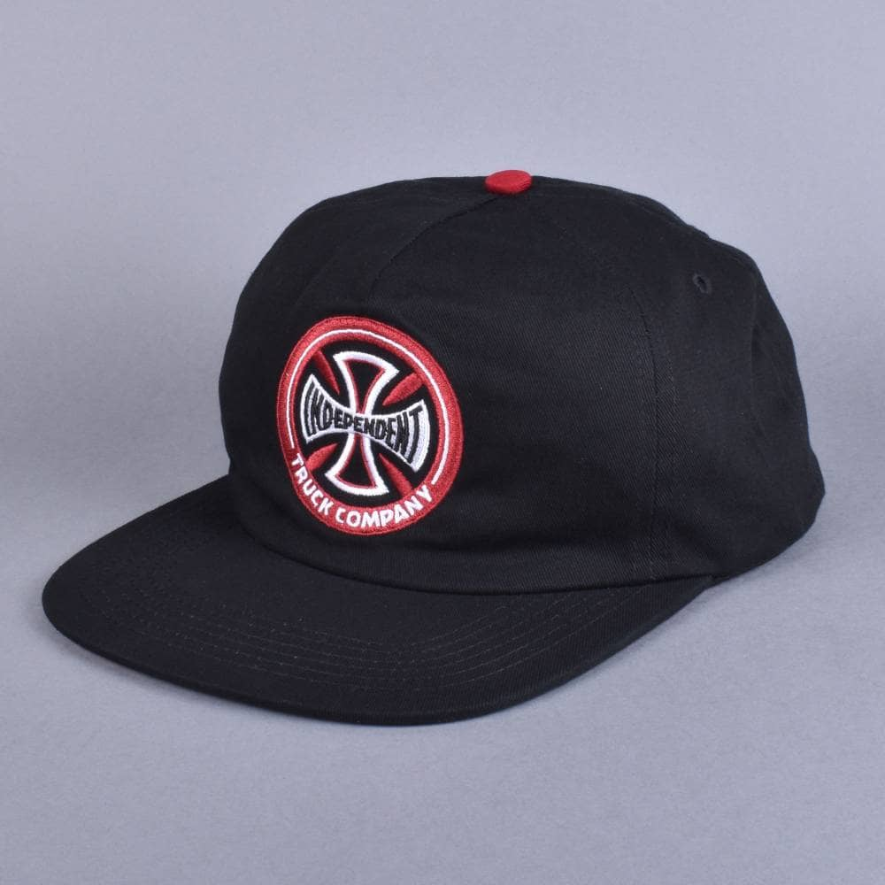 9e5677404d4 Independent Trucks Hollow Cross Snapback Cap - Black Red - SKATE ...