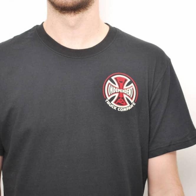 Independent Trucks SUSPENSION CROSS Skateboard Shirt BLACK MEDIUM