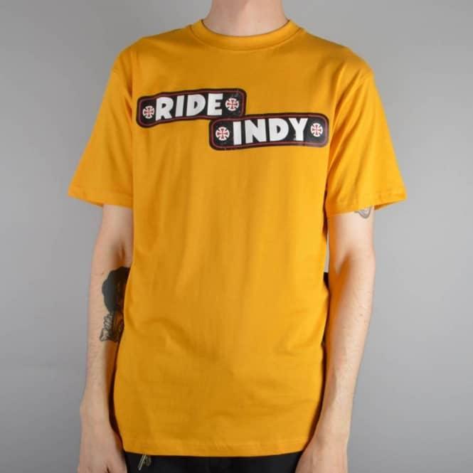 Sticker Bar Skate T-Shirt - Mustard