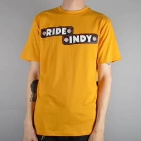Independent Trucks Sticker Bar Skate T-Shirt - Mustard