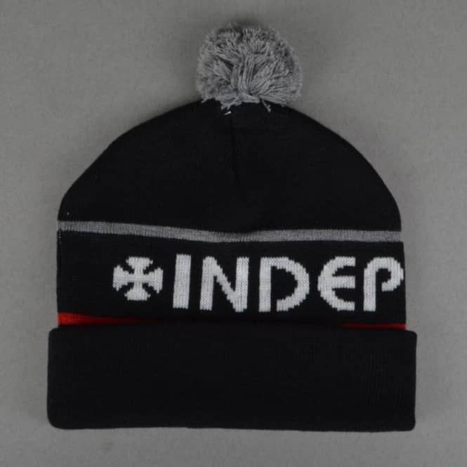 Independent Trucks Strip Bobble Beanie - Black
