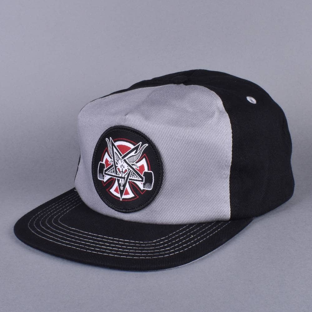 Independent Trucks x Thrasher Pentagram Cross Snapback Cap - Grey ... a57d6e27c74a