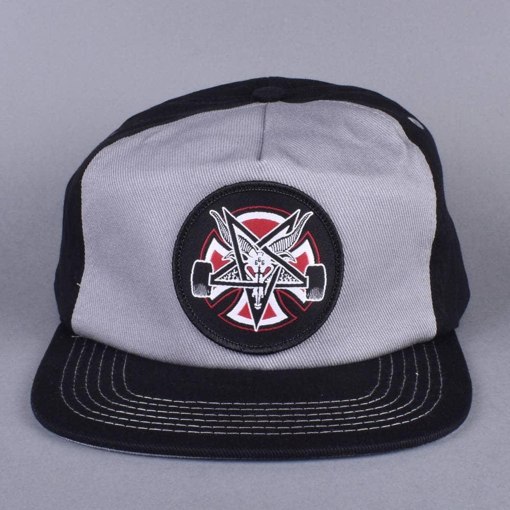 535276308 Independent Trucks x Thrasher Pentagram Cross Snapback Cap - Grey/Black
