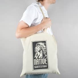 Indianshead Logo Tote Bag - Natural