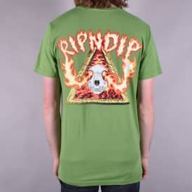 Inferno Skate T-Shirt - Olive Green
