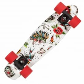 Ink Polyprop Cruiser Skateboard - White