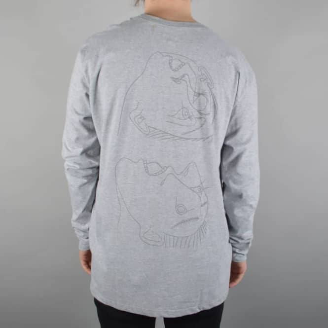 Isle Skateboards Heads Long Sleeve T-Shirt - Heather Grey