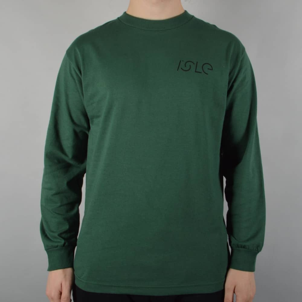 989780824f3 Isle Skateboards Jigsaw Longsleeve Skate T-Shirt - Forest Green ...