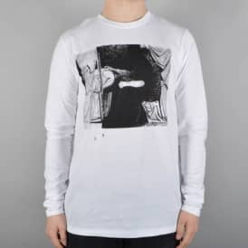 Model Long Sleeve T-Shirt - White