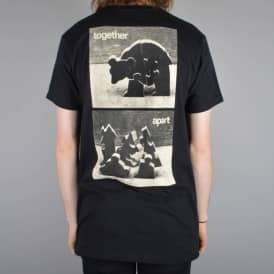 Push Pull Together Apart Skate T-Shirt - Black