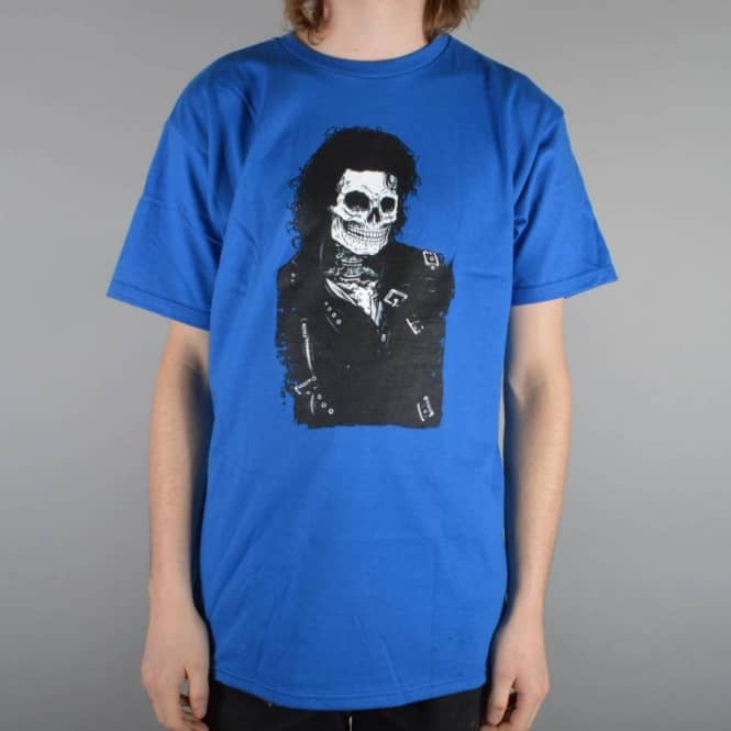 Girl Skateboards Jackson Skull Of Fame Skate T-Shirt - Royal Blue