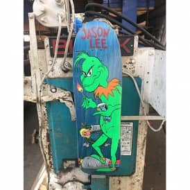 Jason Lee Grinch Ltd Reissue OG Shape (Blue Stain) Skateboard Deck 9.75