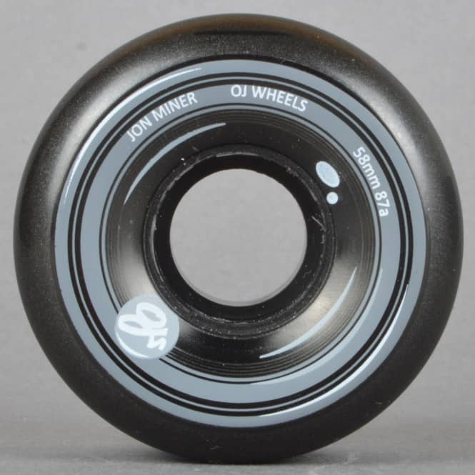 OJs Wheels Jon Minor Keyframes 87A Black Skateboard Wheels 58mm