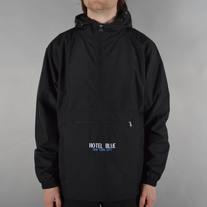Hotel Blue Skateboards Kangaroo Jacket - Black