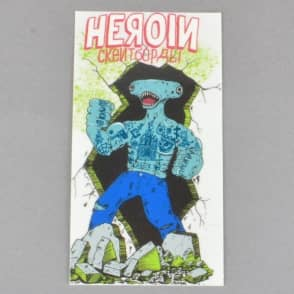 Heroin Skateboards Karr Shark Skateboard Sticker