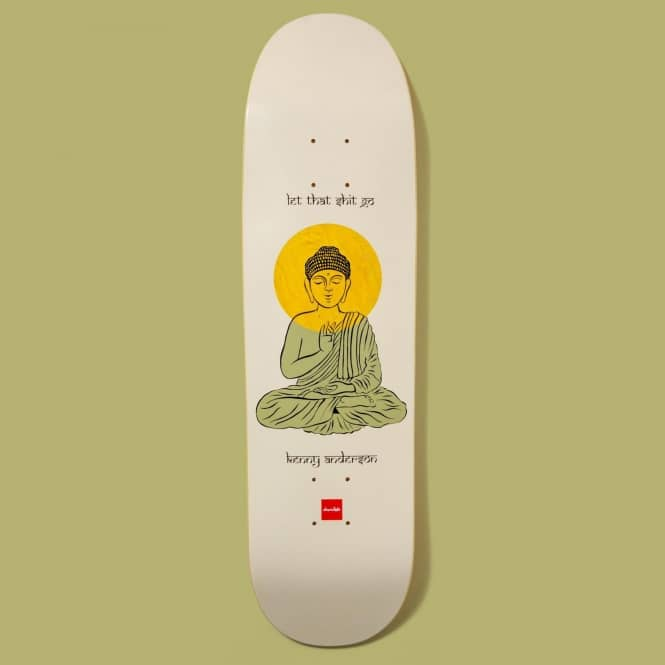 Chocolate Skateboards Kenny Anderson Buddha Powerslde Shape Skateboard Deck 8.5