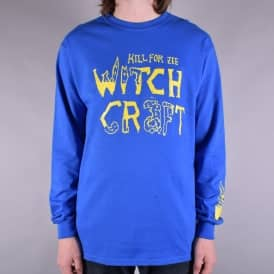 Kill For Long Sleeve Skate T-Shirt - Royal Blue