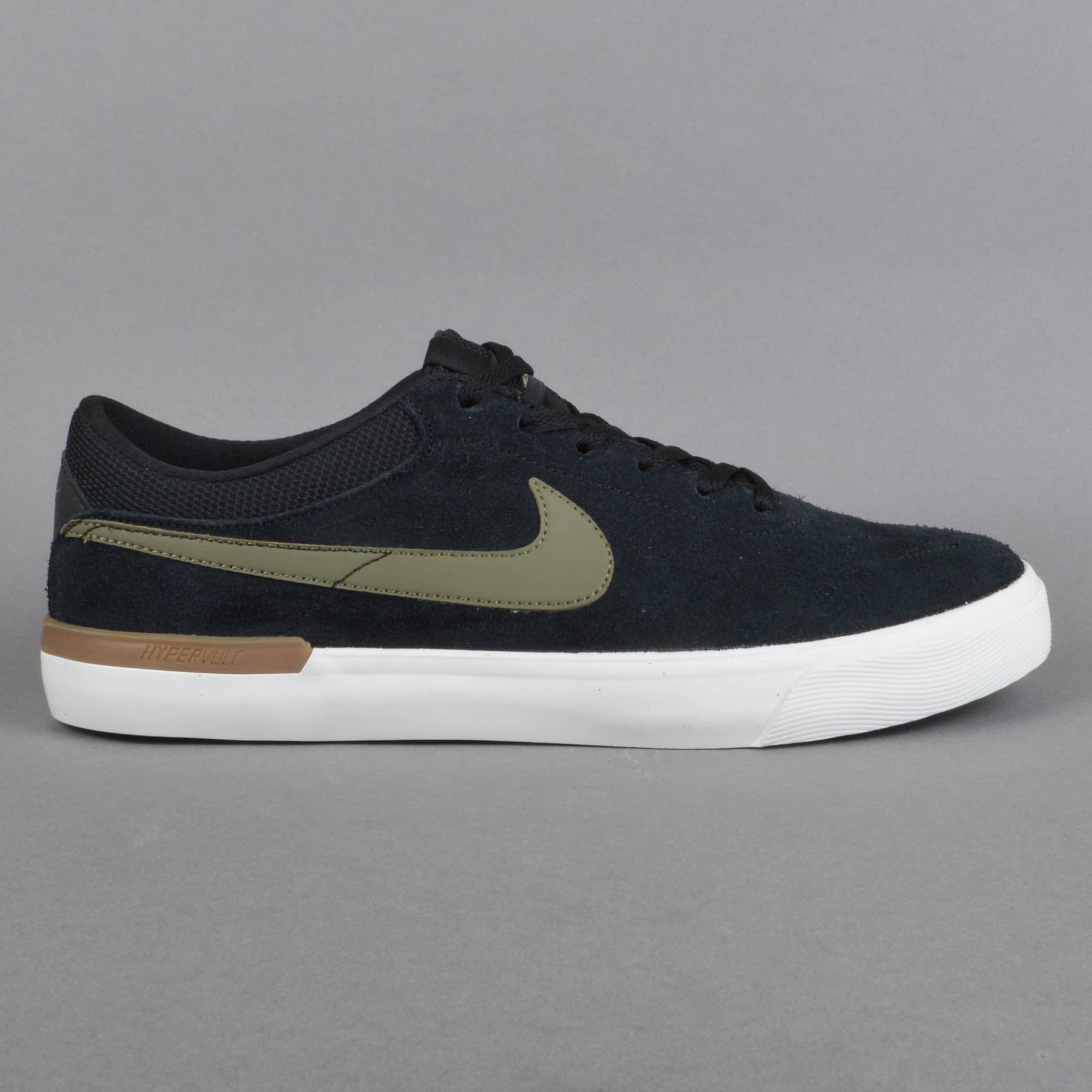 Restricciones Aburrir Centralizar  Nike SB Koston Hypervulc Skate Shoes - Black/Medium Olive - SKATE SHOES  from Native Skate Store UK