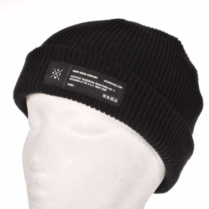 Kr3w Cuff Skate Beanie Black - Beanies from Native Skate Store UK c571936e6473