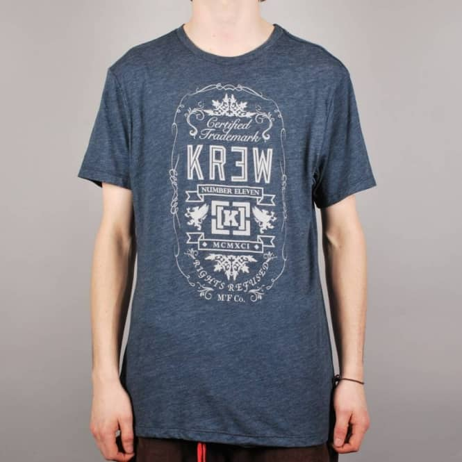 Kr3w Kr3w Archer Heather Skate T-Shirt - Indigo Heather