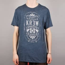 Kr3w Archer Heather Skate T-Shirt - Indigo Heather