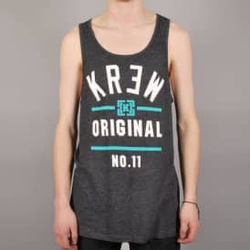 Kr3w Upper Division Tank Top - Black/Heather Charcoal