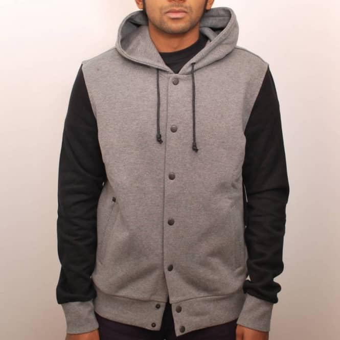 Kr3w Morrison French Terry Button Up Hood Grey