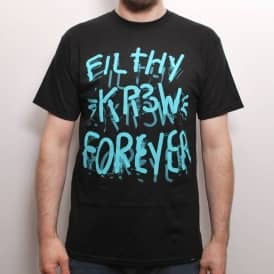 Kr3w Neon Filthy Skate T-Shirt Black