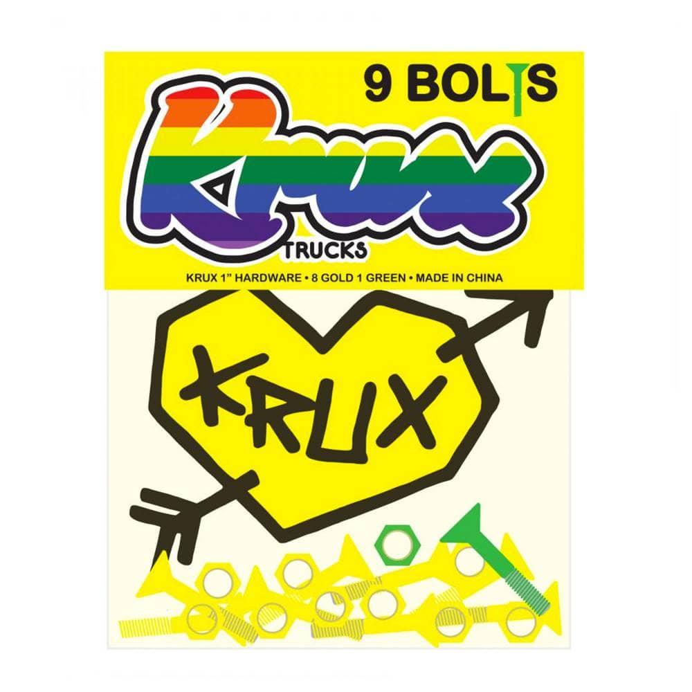 Krux Trucks Krome Gold Skateboard Bolts - 1'' Phillips ...