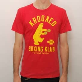 Krooked Skateboards Krooked Boxing Klub Slim Fit Skate T-Shirt - Red Heather