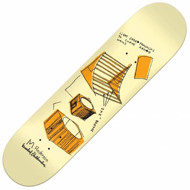 Krooked Skateboards Anderson Jump Ramp Skateboard Deck 8.25