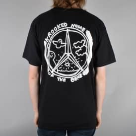 Krooked Skateboards Benzo Skate T-Shirt - Black