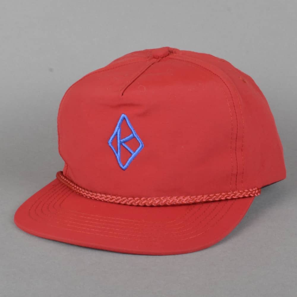 037a0c8a13a Krooked Skateboards Diamond K Embroidered Snapback Cap - Red - SKATE ...