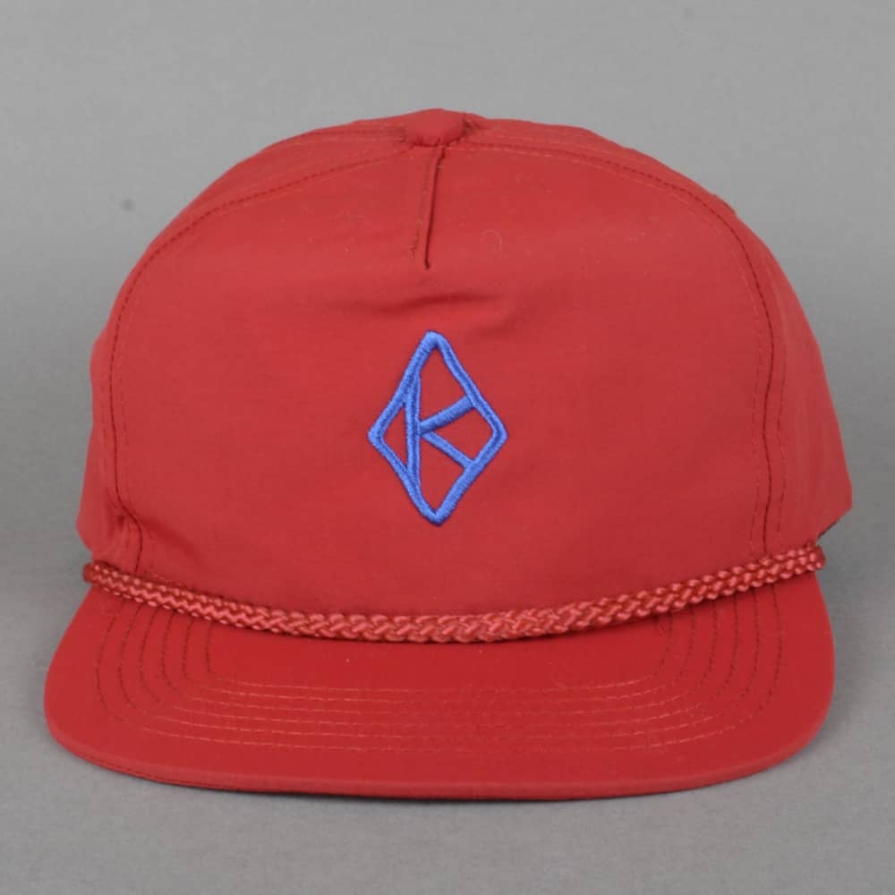 4646d1dd77f Krooked Skateboards Krooked Skateboards Diamond K Embroidered Snapback Cap  - Red