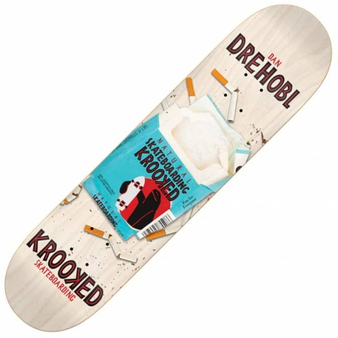 Krooked Skateboards Drehobl Crushin It Skateboard Deck 8.5