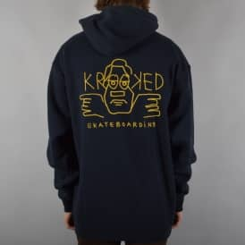 Krooked Skateboards Dude Double Pullover Hoodie - Navy