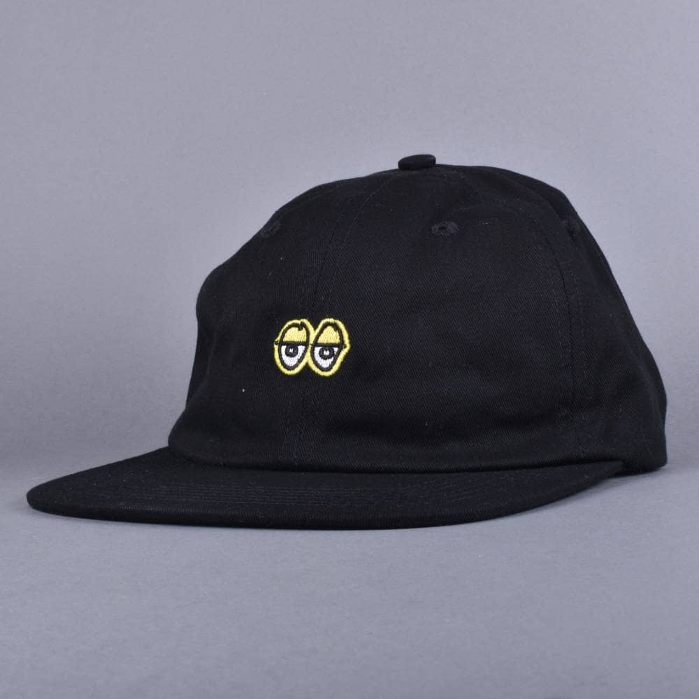 508305205eb Krooked Skateboards Eyes EMB Strapback Cap - Black Yellow - SKATE ...