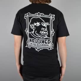 Krooked Skateboards Frame Face 2 Skate T-Shirt - Black