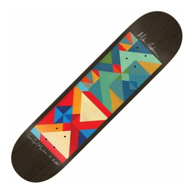 Krooked Skateboards Mike Anderson x Lance Mountain Jr Art Skateboard Deck 8.38