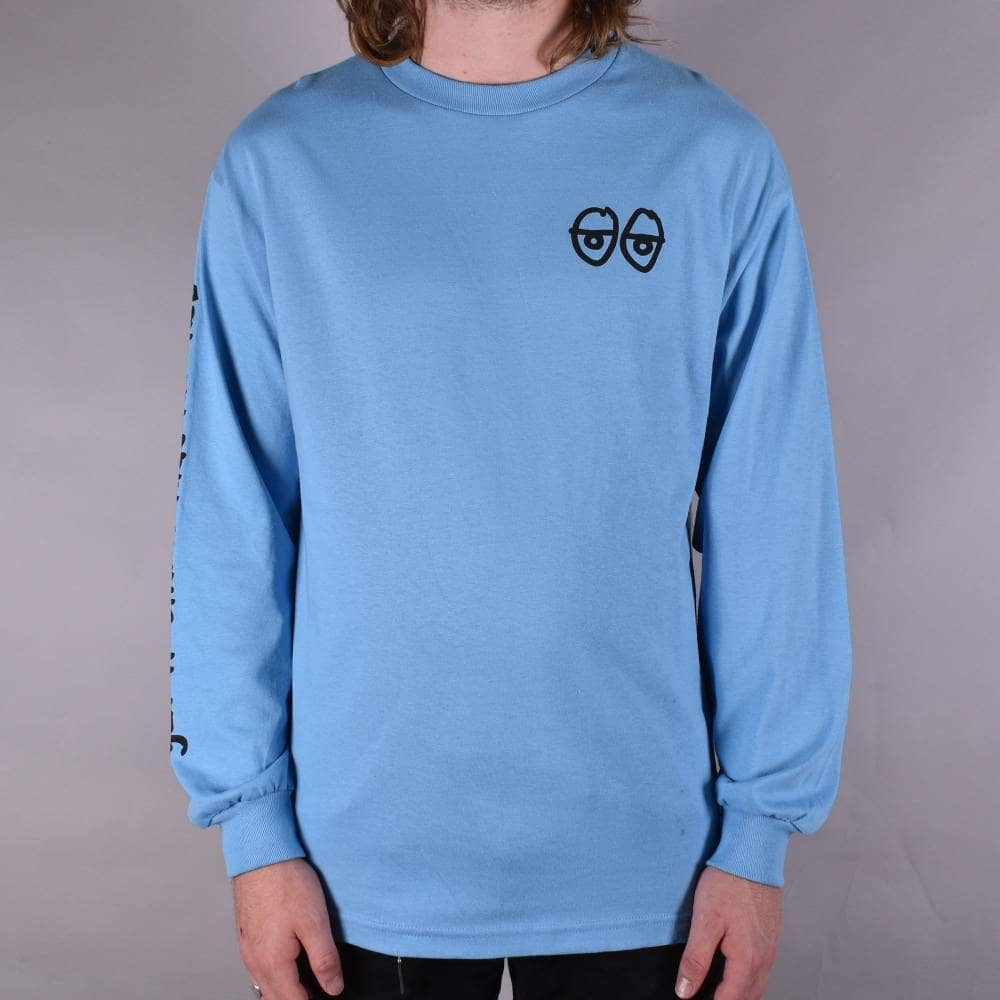 987f3d36 Krooked Skateboards Stock Strait Eyes T-Shirt - Carolina Blue ...